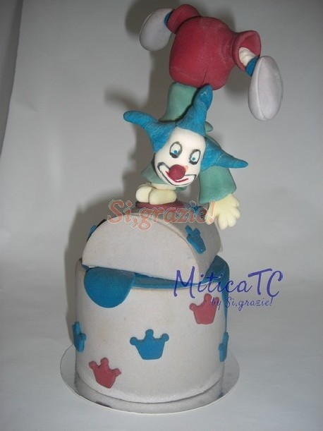 Decoro 3D Clown in pasta di zucchero